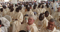 Priests concelebrating Mass in Shendam