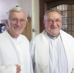 Bp Carroll and classmate Fr Denis P O'Sullivan