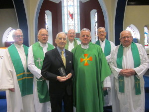 Phil O'Donovan and concelebrating SMA priests