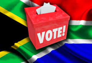 w.South African local election ballot box